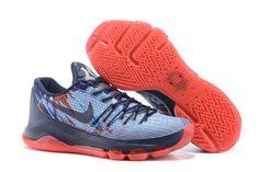 Nike Kd 8 Usa Mid Navy Crimson White Shoes #kdshoes #kd8shoes #kd8usashoes