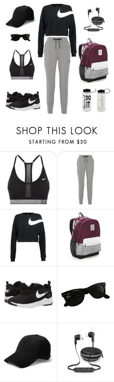 """""""GYM Day"""" by sebnemu ❤ liked on Polyvore featuring NIKE, Victoria's Secret, Ray-Ban and iWorld"""