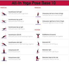 All-in Yoga pose base page 10