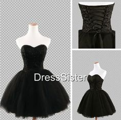 Ball robe noire courte Mini robes, court Homecoming Dresses, robes noires, Little robes noires, robes de Cocktail noire sur Etsy, 103,88 €