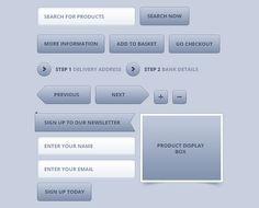 E-commerce Web Kit Free PSD