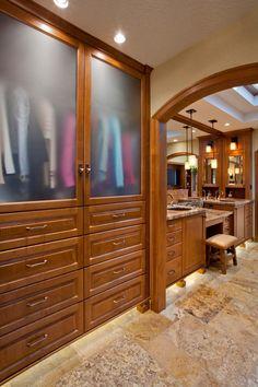 16 Stylish Men's Walk-In Closet Ideas   Decorating and Design Ideas for Interior Rooms   HGTV >> http://www.hgtv.com/design/rooms/other-rooms/dapper-ideas-for-mens-walk-in-closets-pictures?soc=pinterest