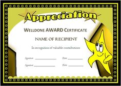 Special Certificate - Award Template for Excellence ...