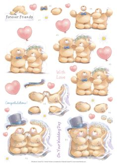 3D decoupage forever Friends on your wedding day