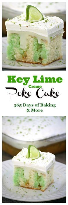Key Lime Creme Poke Cake is THE perfect desert to top off your Cinco de Mayo party. It's SO easy to put together and is full of flavor. Lime lovers rejoice!