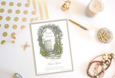 Shabby Chic Invitation Bridal Shower by PaperHabitStudio on Etsy