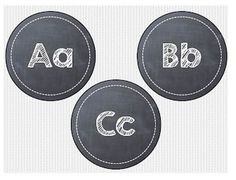 Printable Chalkboard Word Wall Headers {Free} - Teach Junkie - Chalkboard classroom decor is in this year! Here is a set of A-Z chalkboard headers that make a great word wall display or classroom decoration.