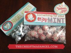 Bag toppers for The Christmas Angel! Christmas Open House, Christmas In July, Christmas Is Coming, Christmas Angels, Vintage Christmas, Merry Christmas, Christmas Favors, Christmas Snacks, Christmas Decorations