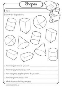 Many different plane and 3D shape activites for K-1