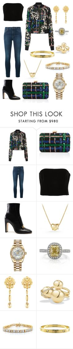 """Senza titolo #175"" by chiarazani ❤ liked on Polyvore featuring Elie Saab, Gucci, Kitx, Sergio Rossi, David Yurman, Rolex, Mark Broumand, Chanel and Cartier"