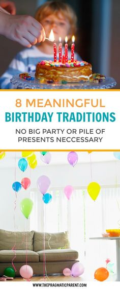 8 memorable Birthday traditions your kids and entire family will love year after year. Build special memories with your kids to last a lifetime with these fun birthday traditions. Kids don't need big birthday parties or a pile of presents to remember how special they are on their birthday. Children only want to be showered with love & attention on their birthday. No big parties or presents required.  Fun birthday traditions. #birthdaytraditions #specialbirthdaytraditions #kidsbirthday
