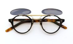 OLIVER PEOPLES 1955 BK-DM original clipon sunglass MiddleGray/AntiqueGold | optician | ponmegane