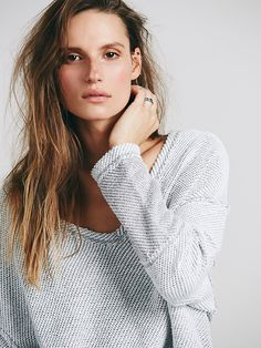 Free People Chunky Destroyed Pullover at Free People Clothing Boutique