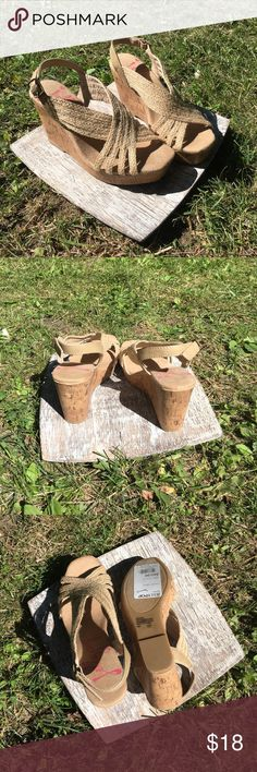 NWT Jellypop Wedges Brand new super cute Wedges.    .E. Jellypop Shoes Wedges