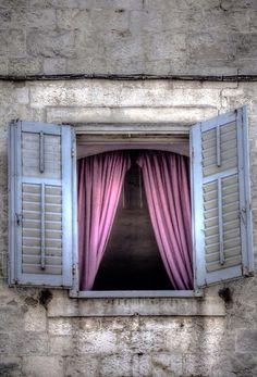 Split, Croatia Stairs Window, Window Shutters, Window Boxes, Doorway, Old Windows, Windows And Doors, Window Reveal, Old Doors, Door Knockers