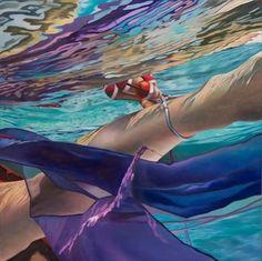 "Josep Moncada ""Poseidon"" #ckcontemporary #josepmoncada #art #realism #ethereal #surreal #painting #oil #sanfrancisco #underwater #summertime #sf"