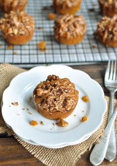 Gluten-Free Pumpkin Muffin with Nut Streusel Topping