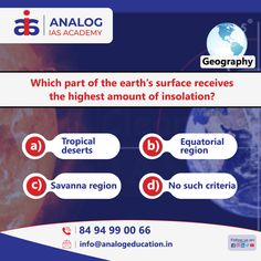 Question of the day Subject: Check your knowledge if you are preparing for the Competitive Exam. Question Of The Day, This Or That Questions, Parts Of The Earth, Earth Surface, Training Center, Geography, Coaching, Knowledge, Education