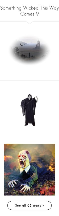"""""""Something Wicked This Way Comes 9"""" by mysfytdesigns ❤ liked on Polyvore featuring robots, layer, models, costumes, grim reaper halloween costume, adult grim reaper costume, blue costumes, adult costume, grim reaper costume and home"""