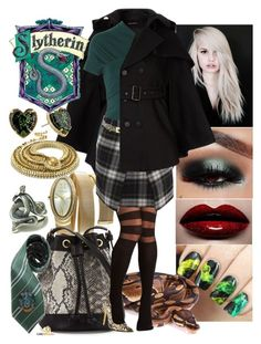 """""""Slytherin (School) II"""" by questions3 ❤ liked on Polyvore featuring Peugeot, Neiman Marcus, Comptoir Des Cotonniers, Isa Arfen, McQ by Alexander McQueen, GUESS, Privileged, Roberto Cavalli, Marc by Marc Jacobs and Elope"""