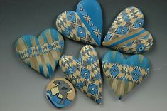 Ron Lehocky's polymer hearts for the KIDS project