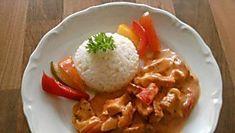 Hähnchen- Geschnetzeltes mit Paprika-Rahm-Soße