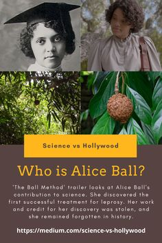 'The Ball Method' trailer looks at the chemist Alice Ball. She discovered the world's first successful treatment for leprosy but her work and credit for her discovery was stolen after her untimely death. #WomenInSTEM #Chemistry #Science #STEM