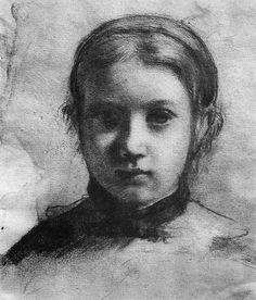 Edgar Degas (1834-1917гг). Портрет Джованны Беллелли.