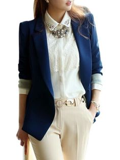 Elegant Lapel Breasted Assorted Colors Blazers Only $30.95 USD More info...