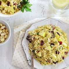 Couscous with Herbs, Apples & Cranberries