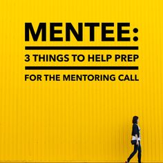 3 Tips For Your First Mentor/Mentee Call. f you've been reading the mentoring saga, you've picked a mentor, prepared for the call, and are ready to run it. Here are three tips on what to do in preparation for the call. Reach out to people outside your company and get their thoughts on the agenda you have created for your call Make adjustments as needed Send a meeting request with the agenda attached, in bullet points  #CareerAdvice #Mentoring