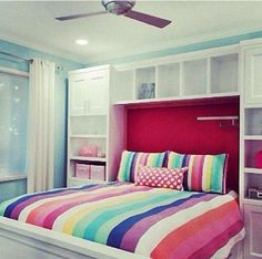 Simple Decor Ideas For Teen Girl Bedrooms Cool Teen Bedrooms, Cool Rooms, Girls Bedroom, Dream Bedroom, Bed Shelves, Shelving, Kids Bedroom Designs, Cute Home Decor, Decorate Your Room