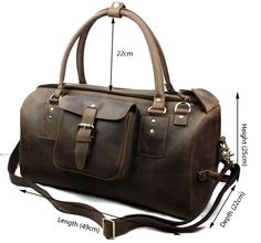 Luxury men travel bag crazy horse leather large capacity luggage trend cowhide vintage man duffel bag tote shoulder