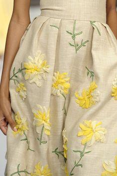 Oscar de la Renta Spring 2011 ... Floral ribbon embroidery, sweet heavens!!! <3.<3.<3
