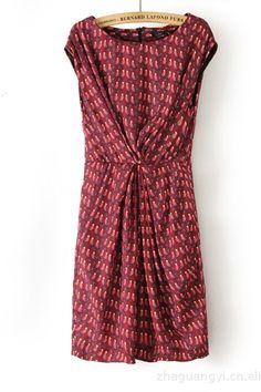 Fall Bird Print Dress! Love it for fall