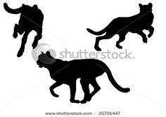 Cheetah silhouette.
