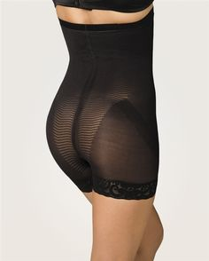 Vitamin E Hip Hugger- Full body shaping garment that adheres to the body to produce body massage functions to improve circulation. It has a specialized design for lifting up the hips and define waist contour properties. It contains a fine lace with silicone on the legs and a silicone band on its borders to avoid those annoying garment rolling ups. This garment is considered light control. $35