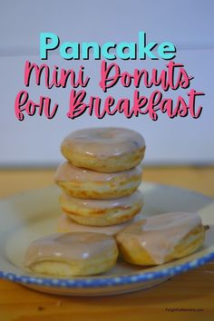 Pancake Mini Donuts for Breakfast are the best little surprise you can make for you kids. #minidonuts #minidonutmaker #pancakerecipe Mini Pancakes, Mini Donuts, Mini Donut Recipes, Snack Recipes, Dessert Recipes, Donut Maker, How To Make Pancakes, Desert Recipes