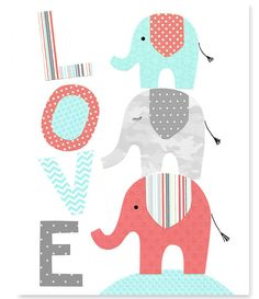 https://www.etsy.com/es/listing/204842409/aqua-coral-gray-elephant-nursery-decor?ref=related-4