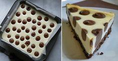 Roztomilý tečkovaný cheesecake s čokoládou
