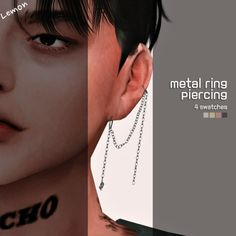 Metal ring piercing at Lemon Sims 4 - The Sims 4 Catalog Sims 4 Teen, Sims Four, Sims 4 Mm Cc, Sims 4 Mods Clothes, Sims 4 Clothing, Sims 4 Accessories, Maxis, Sims 4 Piercings, Septum Piercings