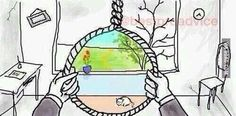 Probably the most moving illustration I've seen.depression sucks and all you want to do is be happy again. The Meta Picture, Stress, Papa Francisco, Feeling Sad, Best Funny Pictures, Creepy, Art Drawings, Art Photography, Sketches