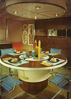 1970s futuristic interior design, from Architectural Digest