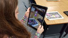 """""""First graders were introduced to augmented reality using"""