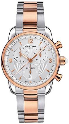Certina - Reloj de cuarzo para mujer, correa de acero inoxidable color plateado