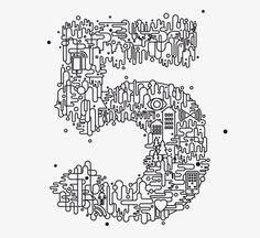 Creative Illustration, Shiro, Kuro, and Lettering image ideas & inspiration on Designspiration Typography Letters, Typography Poster, Graphic Design Typography, Design Art, Print Design, Type Illustration, Design Illustrations, Typography Inspiration, Design Inspiration