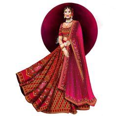 Dress Design Sketches, Fashion Design Drawings, Fashion Sketches, Fashion Drawing Dresses, Fashion Illustration Dresses, Fashion Illustrations, Indian Fashion, Fashion Art, Fashion Outfits