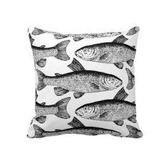 Vintage Fish Designer Pillow http://www.zazzle.com/milalala?rf=238108303832048232