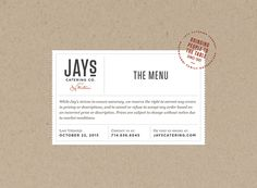 Jay's Catering - The Portfolio of Brian Rau