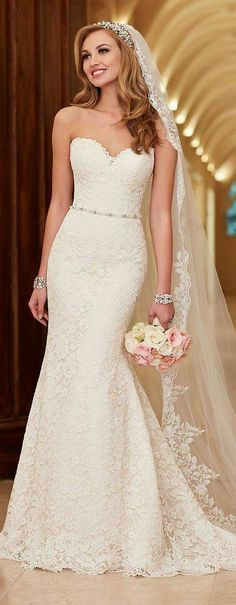 Stella York Wedding Dresses - Search our photo gallery for pictures of wedding dresses by Stella York. Find the perfect dress with recent Stella York photos. Lace Bridal, Lace Mermaid Wedding Dress, Mermaid Dresses, Dress Lace, Dress Prom, Belle Bridal, Party Dress, Mermaid Outfit, 2017 Bridal